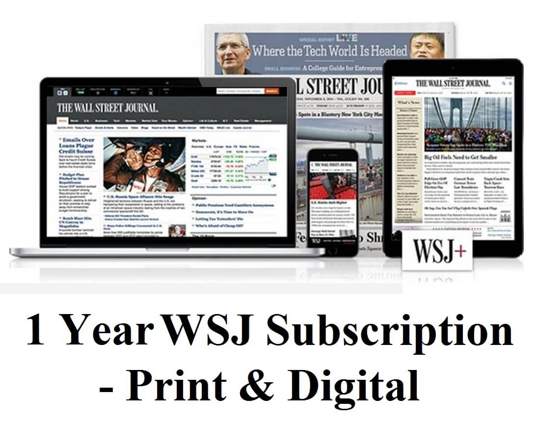 When using a WSJ subscription coupon or promotional link from above, you can cogitate about saving up to 50% off the news stand price of The Journal, and you are also eligible for up to 8 free weeks of The Wall Street Journal print & online editions.