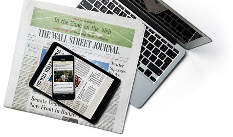 The Wall Street Journal 1 Year Print Subscription